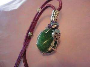 green heart chakra stone